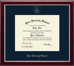 Diploma Frame: Embossed Gallery Silver