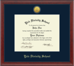 Diploma Frame: Medallion Engraved Navy