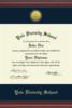 Diploma Frame: Medallion Engraved Navy